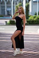 Платье с разрезом на одно плечо Lameia черное