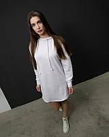Женское платье худи белое DNK MAFIA - Elven