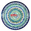 Ляган (узбекская тарелка) 28х4см для подачи плова керамический (ручная роспись) (вариант 5)