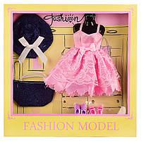 Одежда для кукол, платье, обувь 2 пары, аксессуары, 8810A