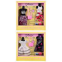 Одежда для кукол, 2 вида, платье 2 штуки, обувь 2 пары, сумочка, 8810B
