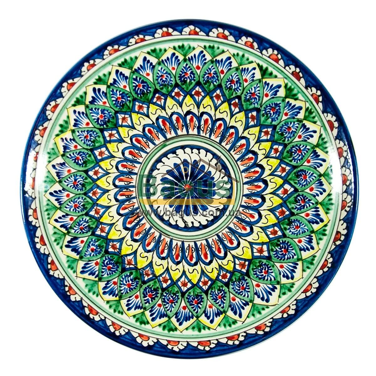 Ляган узбекский (тарелка узбекская) диаметр 32см ручная работа 3204-03