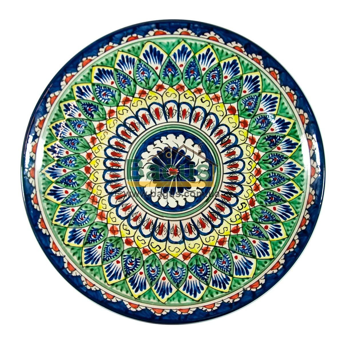 Ляган узбецький (тарілка узбецька) діаметр 32см ручна робота 3204-05