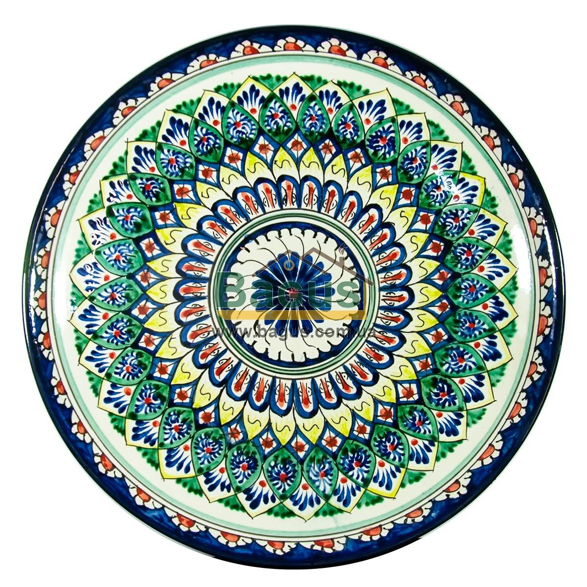 Ляган узбекский (тарелка узбекская) диаметр 32см ручная работа 3204-06
