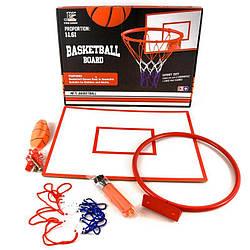 Баскетбольное кольцо с сеткой, щит, мяч с насосом и крепежи, YC856Y1