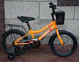 Велосипед детский Like2bike Archer, 2-х колесный, 16, оранжевый, со звонком, 211613