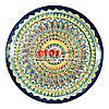 Ляган (узбекская тарелка) 37х4см для подачи плова керамический (ручная роспись) (вариант 6)