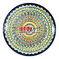 Ляган (узбекская тарелка) 37х4см для подачи плова керамический (ручная роспись) (вариант 6), фото 1