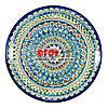 Ляган (узбекская тарелка) 37х4см для подачи плова керамический (ручная роспись) (вариант 11)