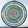 Ляган (узбекская тарелка) 37х4см для подачи плова керамический (ручная роспись) (вариант 16)