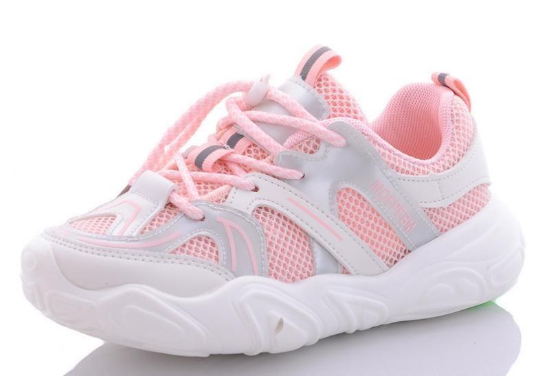 Розовые легкие кроссовки для девочки