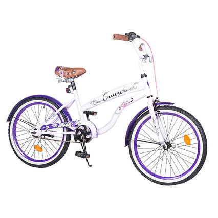 "Велосипед детский CRUISER 20"" T-22035 purple"