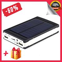 Портативное зарядное устройство Power Bank Solar 50000 mAh на солнечной батареи, устройство с LED подсветкой