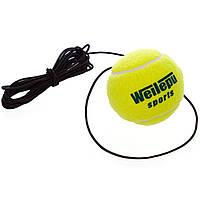 Теннисный мяч на резинке боксерский Fight Ball Wielepu 626 Green-Black