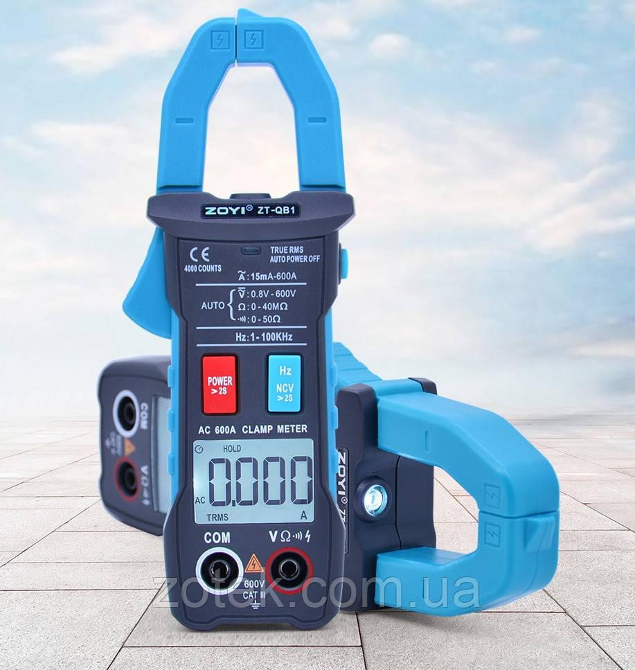 ZOYI ZT-QB1 600A AC, струмовимірювальні кліщі, мультиметр True RMS NCV