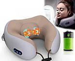 Масажер дорожня подушка U-Shaped Massage Pillow SHAKE - масажер-подушка для шиї, фото 3