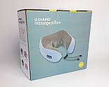 Масажер дорожня подушка U-Shaped Massage Pillow SHAKE - масажер-подушка для шиї, фото 6