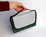 Коврик для пикника зеленый, водонепроницаемый плед на природу, подстилка для пикника, непромокаемый коврик, фото 2
