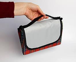 Водонепроникний плед для пікніка (червоний), підстилка на природу, килимок для пікніка, водонепроникний
