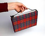Водонепроникний плед для пікніка (червоний), підстилка на природу, килимок для пікніка, водонепроникний, фото 2