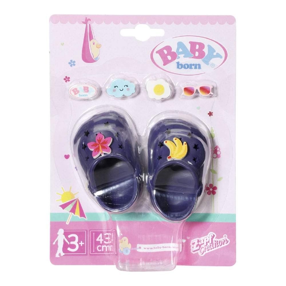 """Взуття для ляльки Бебі Борн - """"Святкові сандалі із значками"""" (сині) - Baby Born, Zapf Creation 3+ (828311-2)"""