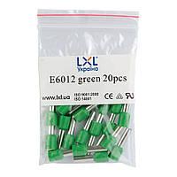 Наконечник штыревой втулочный изолированный 6.0 мм² (20 шт.) зеленый LXL