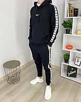 Спортивный костюм мужской Adidas Адидас худи штаны хлопок черный весна лето Киев