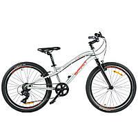 """Велосипед Spirit Flash 4.1 24 """", рама Uni, сірий, 2 021"""