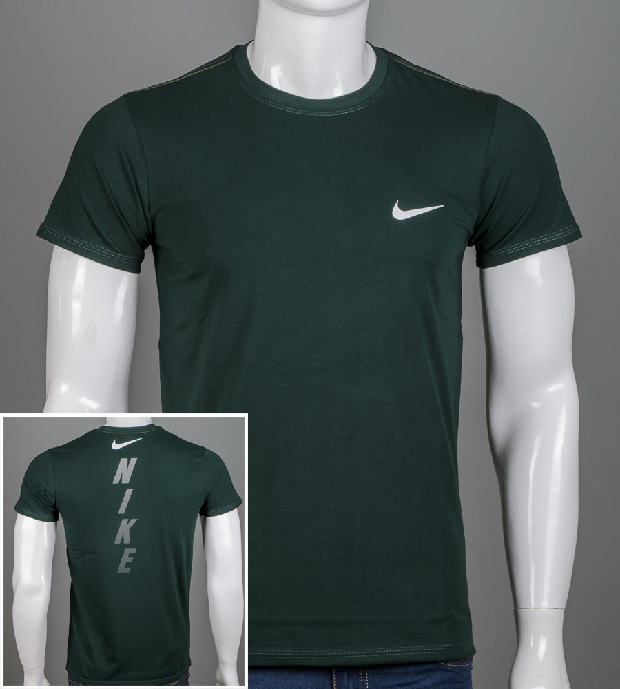Футболка мужская NIKE (2048м), Т.Зелёный