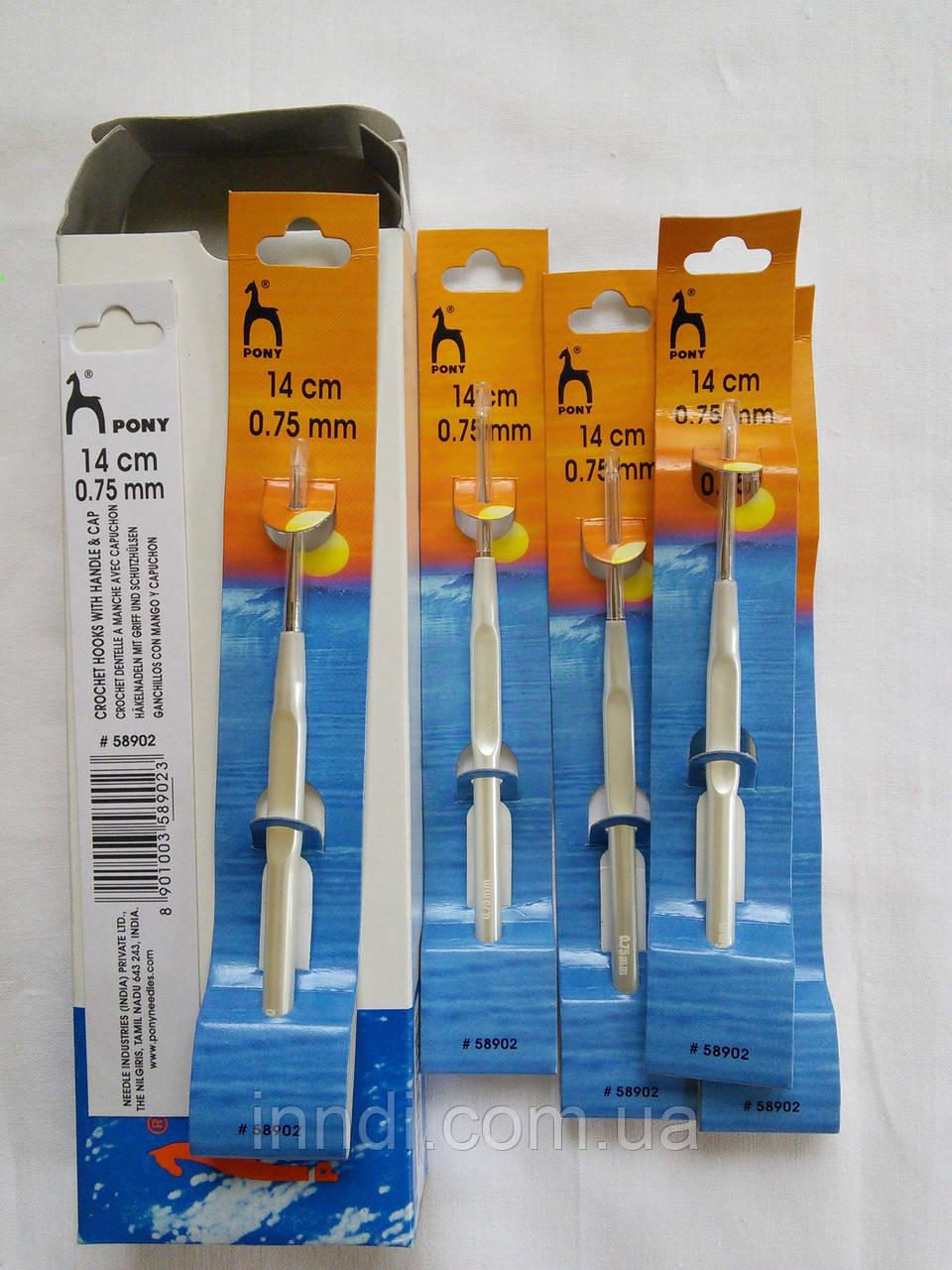 Крючки стальные для вязания  Pony 0,75 мм