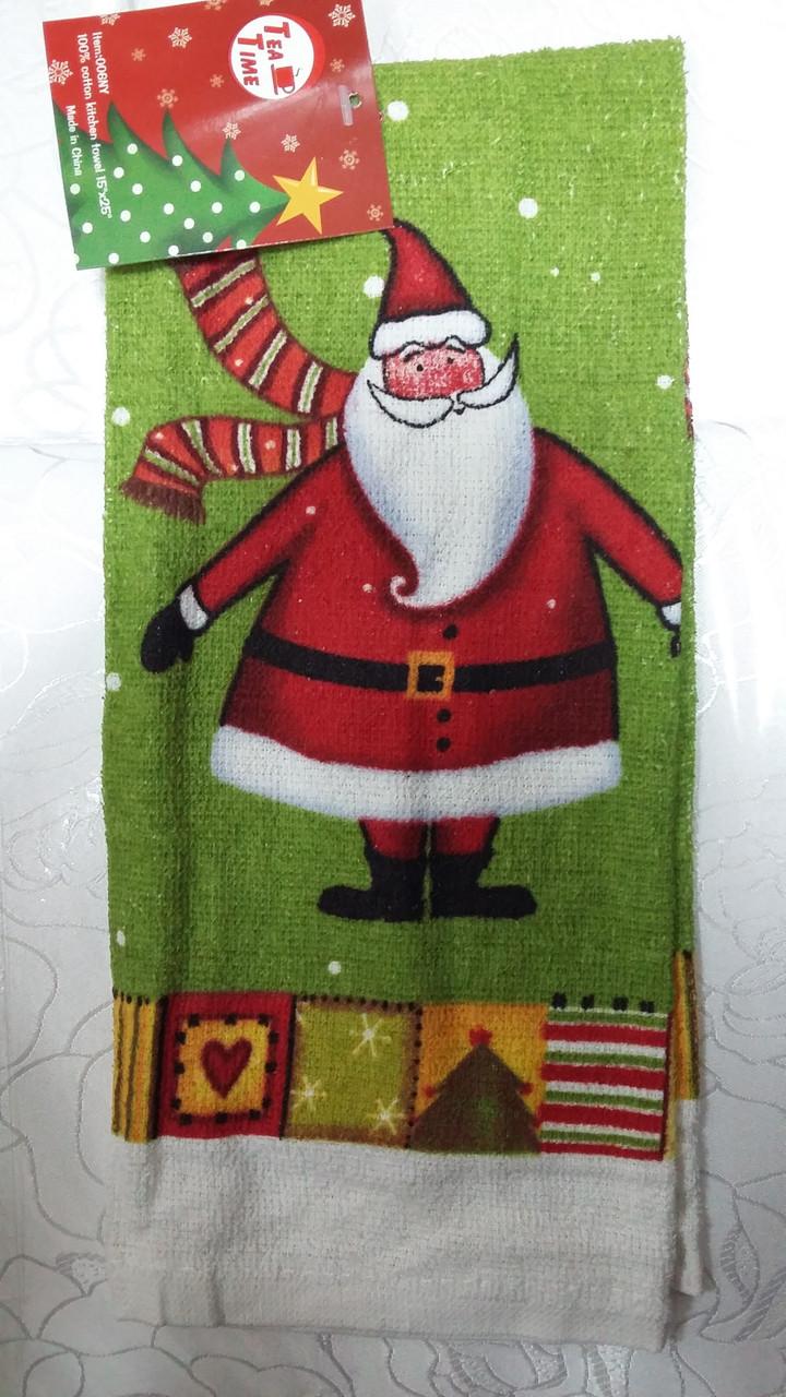 Дед Мороз. Новогоднее кухонное полотенце