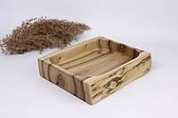 Декоративная менажница из ореха 20х17х4 см
