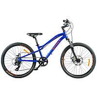 """Велосипед Spirit Flash 4.2 24 """", рама Uni, синій, 2021"""