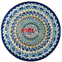 Ляган (узбекская тарелка) 42х5см для подачи плова керамический (ручная роспись) (вариант 25), фото 1
