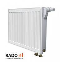 Rado панельний сталевий радіатор тип 22 з нижнім підключенням 500 х 1200