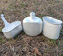 Котелок фляга ВДВ (десантный), алюминий, оригинал СССР