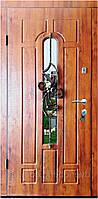 Вхідні двері модель Т-1-3 217 vinorit-90 КУВАННЯ КВІТКА