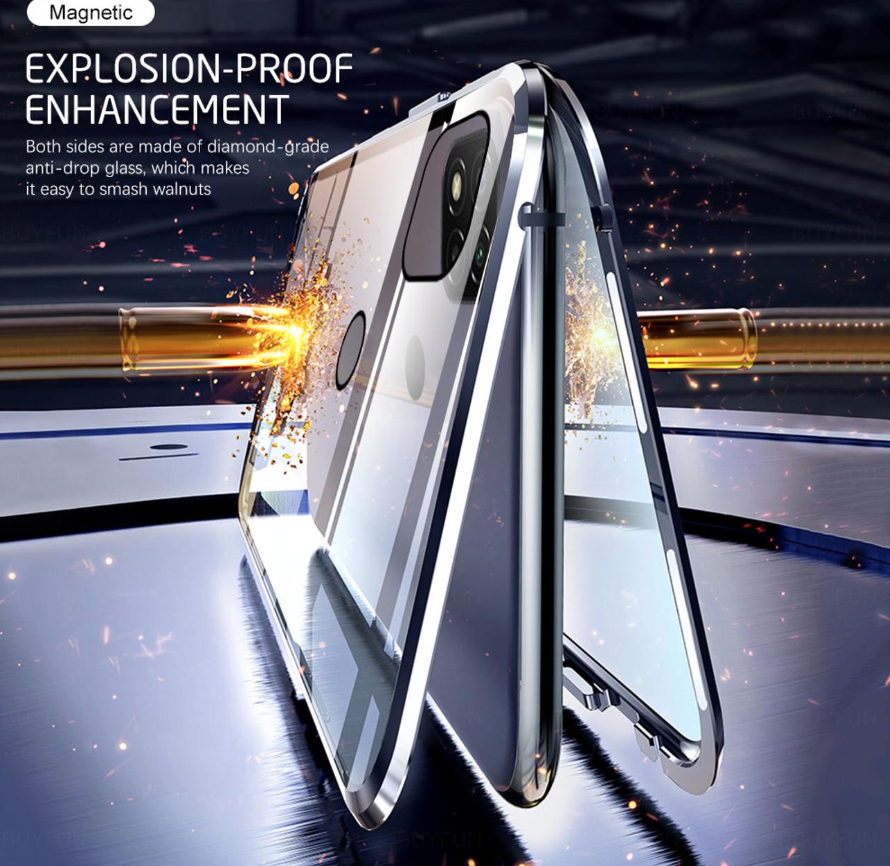 Магнітний метал чохол FULL GLASS 360° для Xiaomi POCO M3