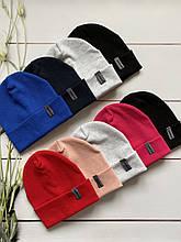 Демисезонные трикотажные лёгкие детские двойные шапочки для мальчика и девочки.