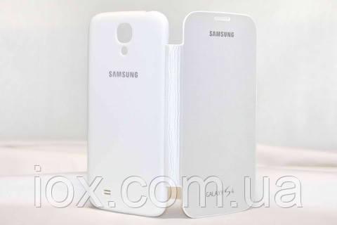 Белый чехол-книжка флип для Samsung Galaxy S4