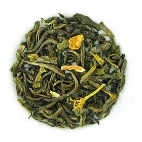Чай зеленый с жасмином рассыпной листовой зеленый чай жасминовый 50 г