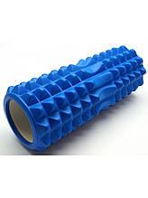 Массажный ролик, валик для массажа спины (массажер для спины, шеи, ног) OSPORT 33*13см (MS 0857-4) Синий