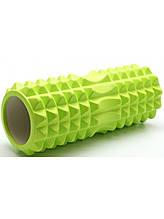 Массажный ролик, валик для массажа спины (массажер для спины, шеи, ног) OSPORT 33*13см (MS 0857-4) Зеленый