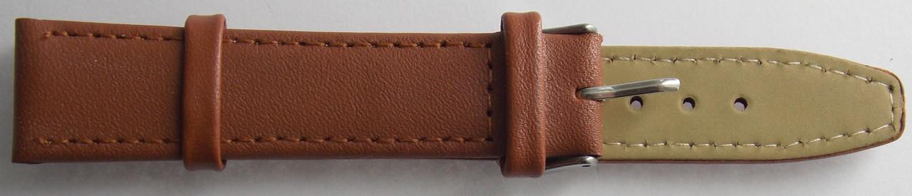 Ремешок кожаный LUX-PL (Польша) 18 мм, св.коричневый