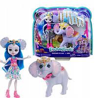 Игровой набор Энчантималс кукла Слон Екатерина и питомец Антик Enchantimals Mattel FKY73