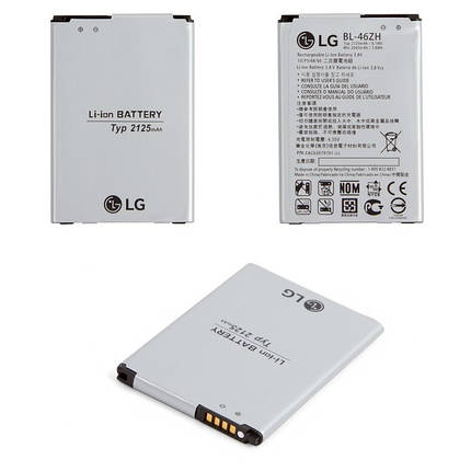 Аккумулятор (Батарея) для LG K350E BL-46ZH (2125 mAh) Оригинал, фото 2
