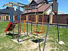 Спортивно игровой комплекс с горкой и качелями уличный, фото 9