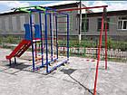 Спортивно игровой комплекс с горкой и качелями уличный, фото 10
