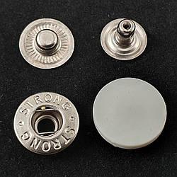 Кнопка АЛЬФА с белой пластиковой шляпкой 17мм (720шт.)