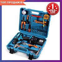 Шуруповерт Makita 550 DWE (24V, 5.0AH) с набором инструментов (28 ед.) Макита